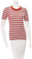 Prada Embellished Striped Top
