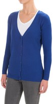 Pendleton Ribbed Cardigan Sweater (For Women)