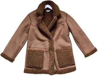 Reformation Brown Faux fur Coats