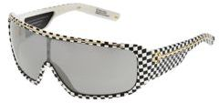 Spy Optic Tron (Checkers/Grey W/Silver Gradient Mirror Lens) - Eyewear