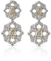 Buccellati Opera 18k Pave Diamond Double-Drop Earrings