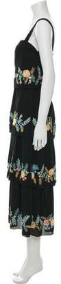 Vilshenko Silk Long Dress w/ Tags Black