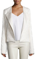 The Row Jewel-Neck Cloque Jacket