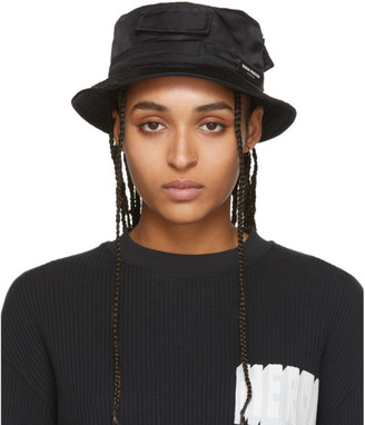 Heron Preston Black Logo Bucket Hat