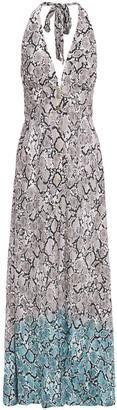 Heidi Klein Snake-print Woven Maxi Dress