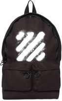 Off-White Spray Stripes Printed Canvas Backpack