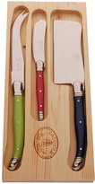 KitchenCenter Laguiole London Mix Cutlery Set with 3 Cheese Knives