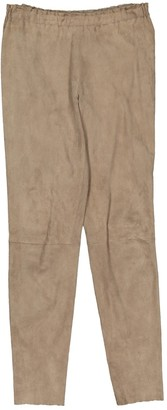 STOULS Beige Suede Trousers
