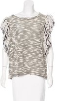 Sam&lavi Sam & Lavi Fringe-Trimmed Knit Top