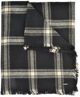 Woolrich Check Patterned Scarf
