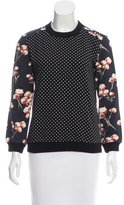 Tory Burch Printed Crew Neck Sweater