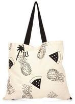 River Island Womens Cream pineapple print shopper