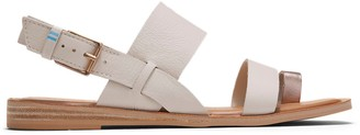 Toms Off White Rose Gold Leather Women's Freya Sandals