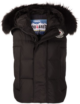 DSQUARED2 Hooded Padded Waistcoat