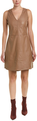 As By Df Jed Leather Shift Dress