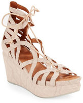 Gentle Souls Joy Leather Platform Wedge Sandals