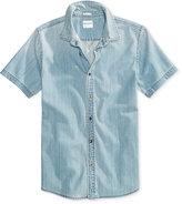 GUESS Men's Denim Cotton Shirt