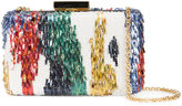 Oscar de la Renta Rogan abstract sequin box clutch