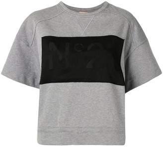 No.21 Logo Detail Short-Sleeved Sweatshirt