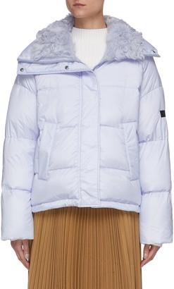 Army by Yves Salomon Kalgan lamb fur lined technical puffer jacket