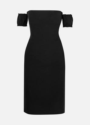 we11done Off-the-shoulder Stretch-crepe Mini Dress - Black