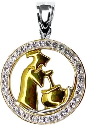 Gold & Honey Witch & Cauldron Pendant