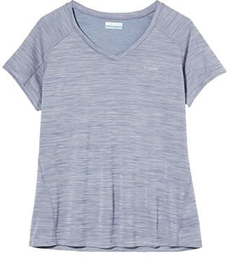 Columbia Zero Rulestm Short Sleeve Shirt (New Moon Heather) Women's T Shirt