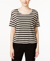 Eileen Fisher Striped Scoop-Neck Sweater