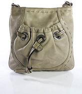 B. Makowsky Beige Leather Small Square Shoulder Handbag