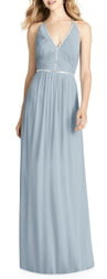 Jenny Packham Pleat Bodice Chiffon A-Line Gown