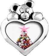 GiftJewelryShop christmas tree Light Rose Crystal October Birthstone I Love You Heart Care Bear Charm Beads Bracelets