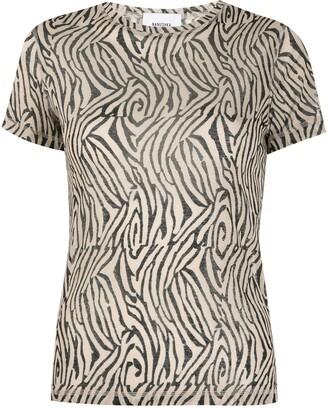 Nanushka zebra print short-sleeve T-shirt