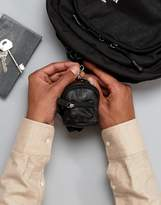 Asos Leather Mini Backpack Keyring In Black