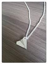 Ping One Direction Harry Styles Inspired Paper Plane Airplane Design Charm Necklace