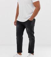 Duke King Size biker jeans in black with stretch