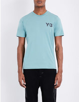 Y-3 Y3 Logo-detail cotton-jersey t-shirt