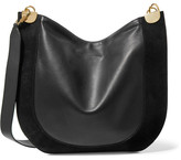Diane von Furstenberg Moon Leather And Suede Shoulder Bag - Black