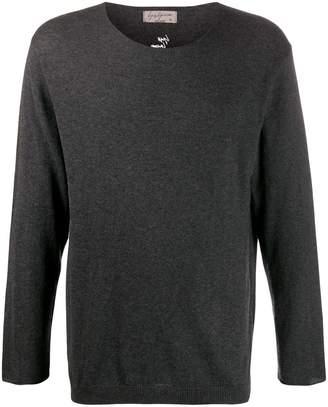 Yohji Yamamoto logo-embroidered jumper
