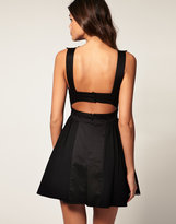 ASOS Skater Dress with Cut Out Back