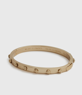 AllSaints Hex Gold-Tone Bangle