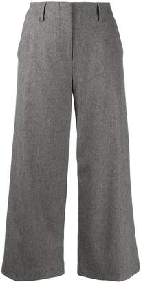 Eleventy cropped wide-leg trousers