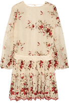 Zimmermann Sakura Embroidered Silk-georgette Mini Dress - Cream