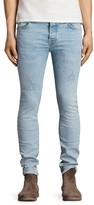 AllSaints Donavan Cigarette Slim Fit Jeans in Light Indigo