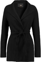 Maje Belted wool-blend coat