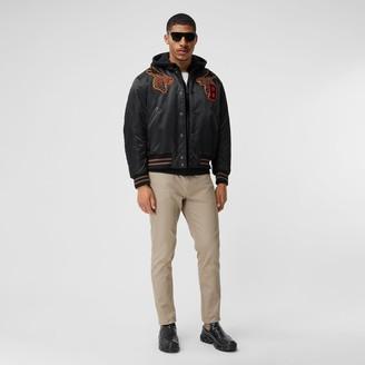 Burberry Varsity Graphic Satin Bober Jacket