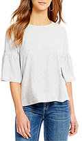 Vince Camuto Two By Bell Sleeve Cotton Slub Tee