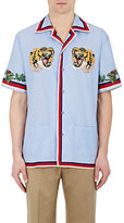 Gucci Men's Cotton Appliquéd Shirt