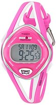 "Timex Women's T5K655 ""Ironman"" Watch with Pink and White Resin Band"