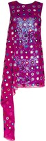 Ashish mirror-embellished asymmetric mini dress
