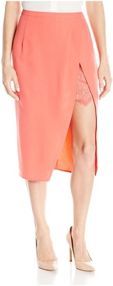 Aijek Women's Moonshine Midi Lace Skirt
